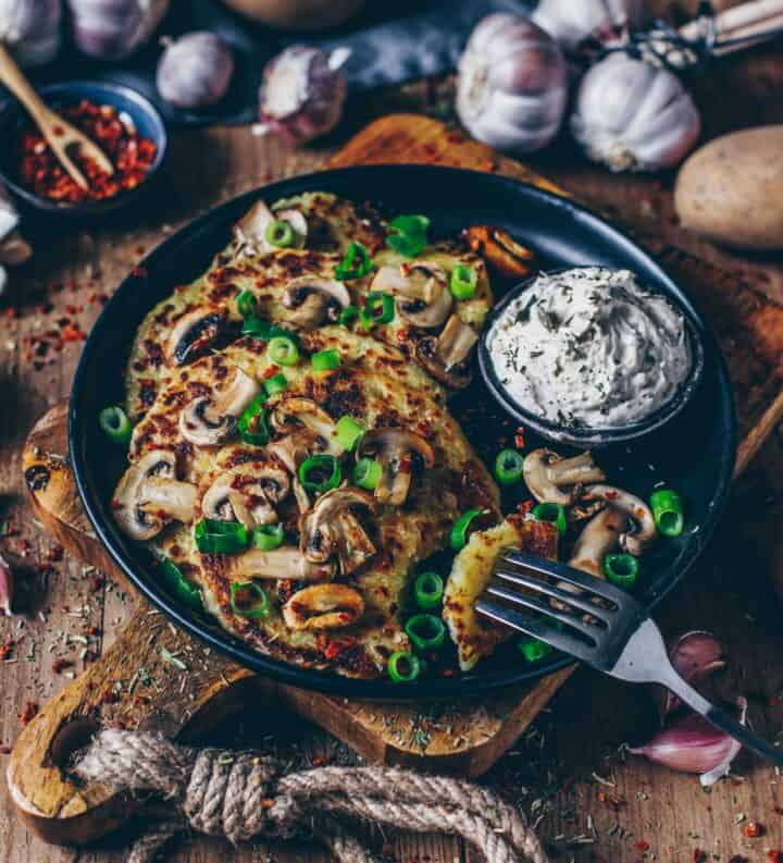 Kartoffelrösti mit Champignons