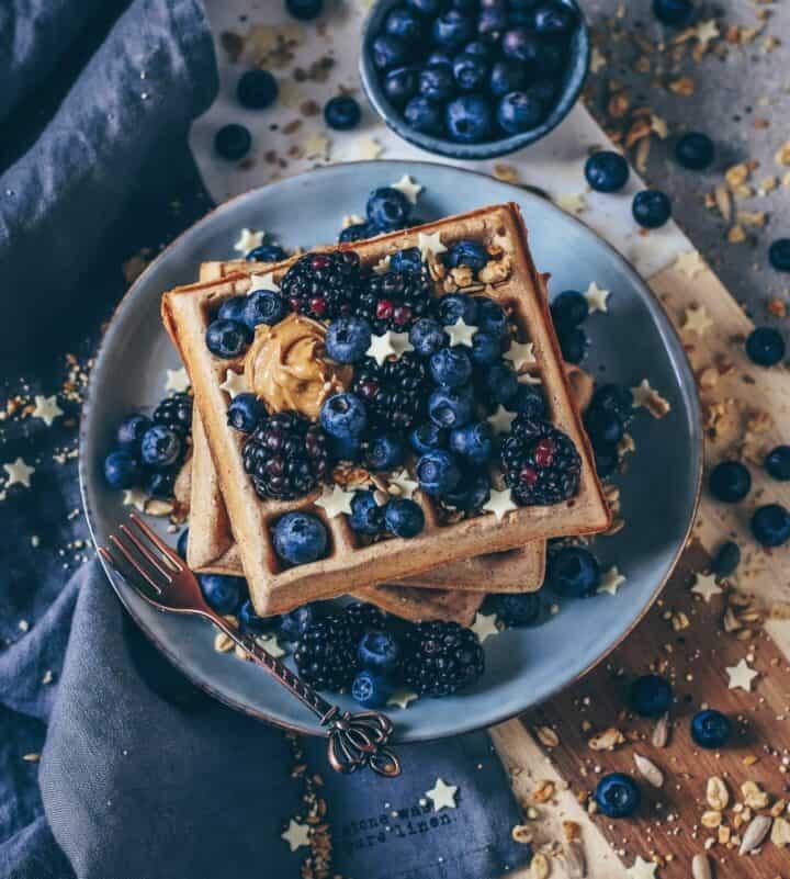 vegan waffles easy recipe waffeln