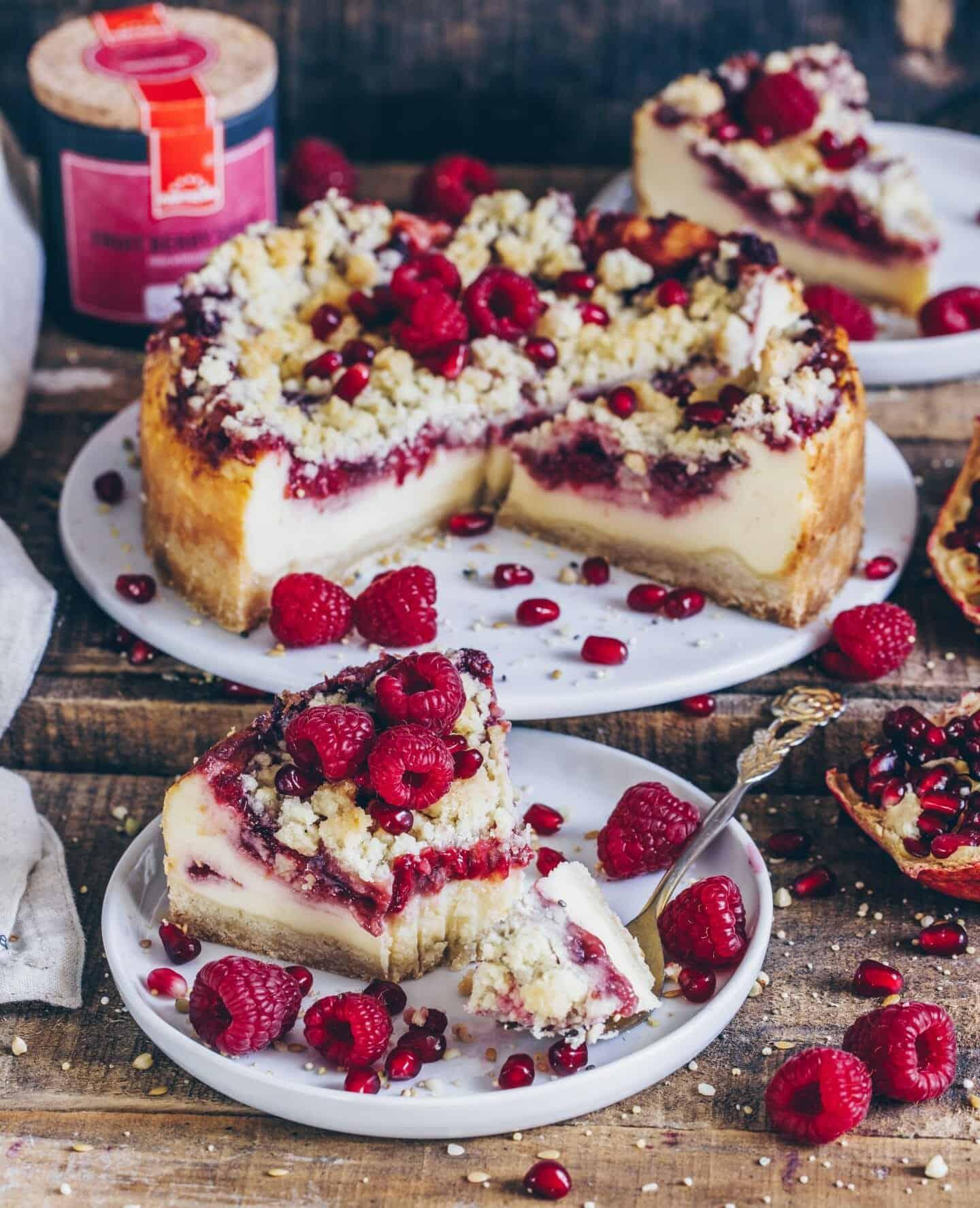 Kase Streuselkuchen Mit Saftiger Beerenfullung Vegan Bianca Zapatka