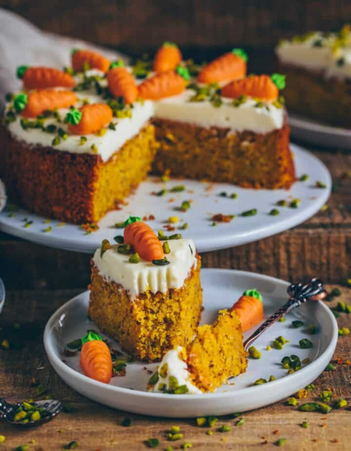 Karottenkuchen (Möhrenkuchen, Rüblikuchen) (vegan)