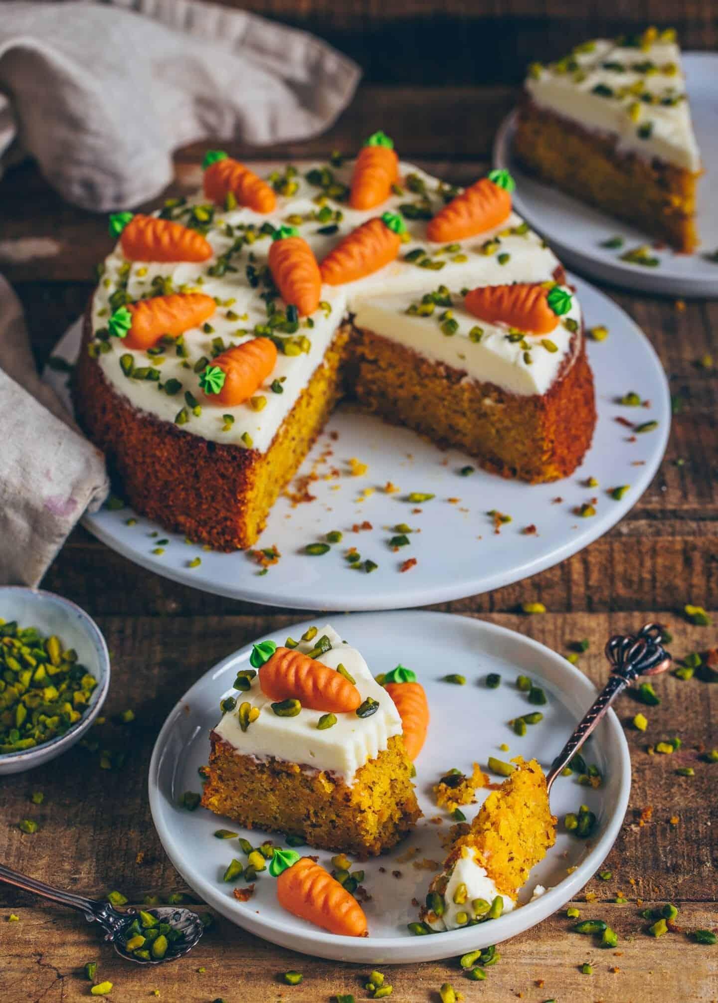 carrot cake (vegan)