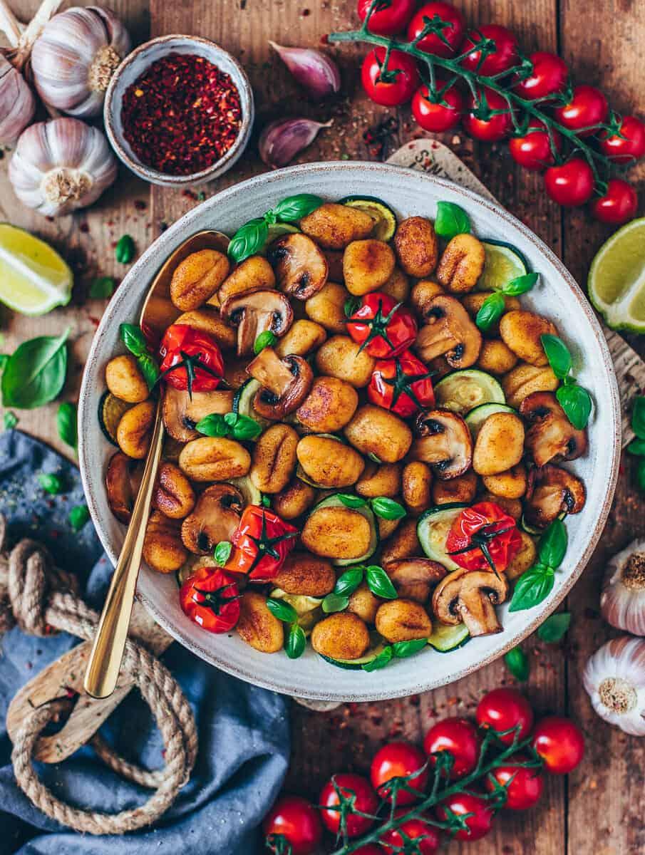 Gnocchi Gemüse Pfanne Vegan Bianca Zapatka Foodblog