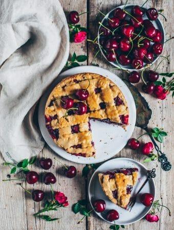 kirschkuchen vegan fotografie