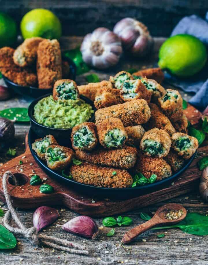 vegane kroketten mit spinat glutenfrei gesund rezept