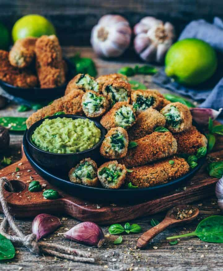 vegan croquettes with spinach healthy gluten-free recipe