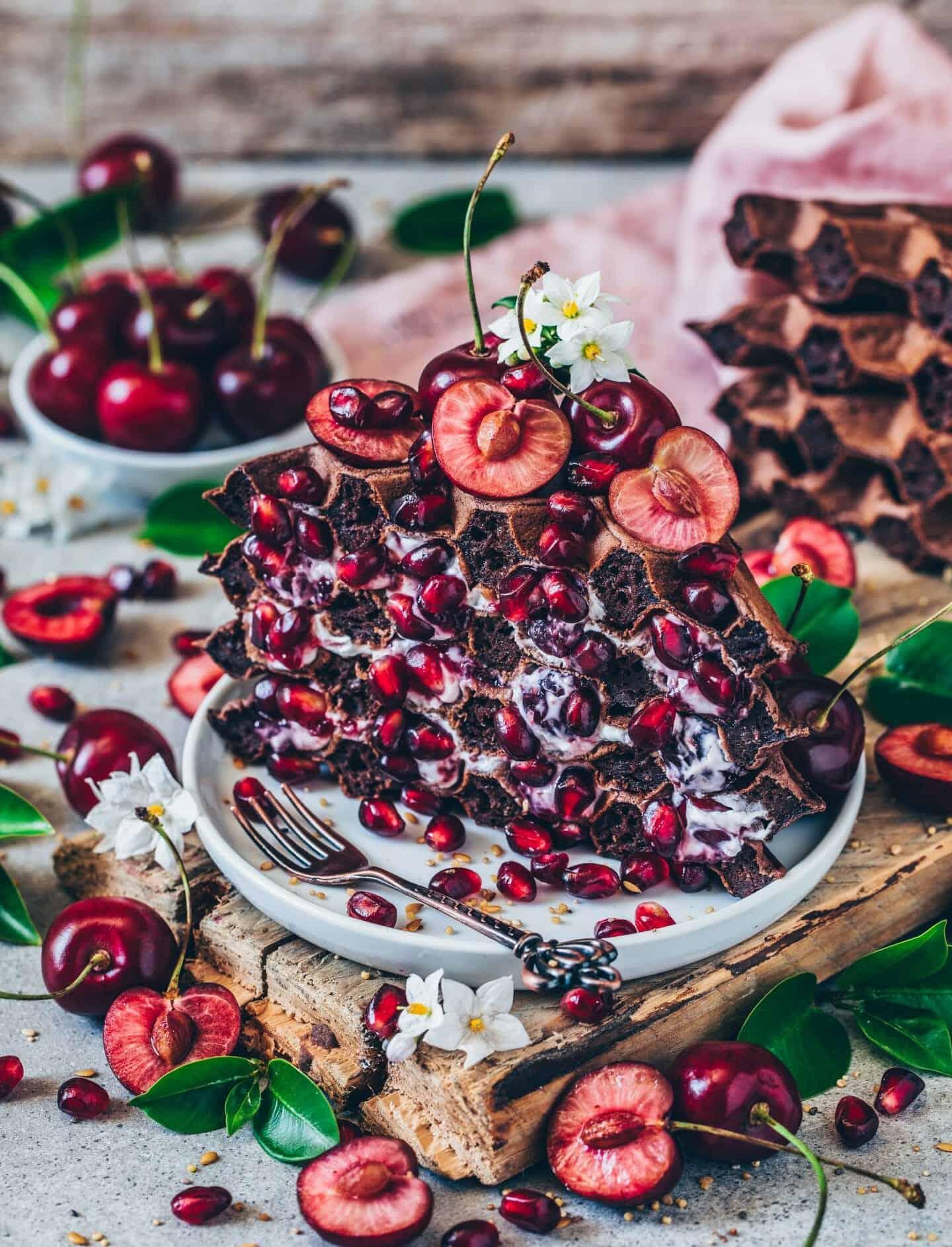 easy vegan chocolate waffles