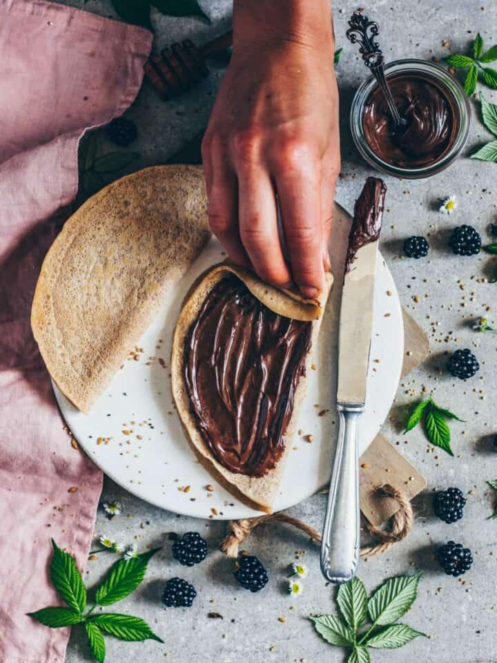 pfannkuchen mit schoko-creme