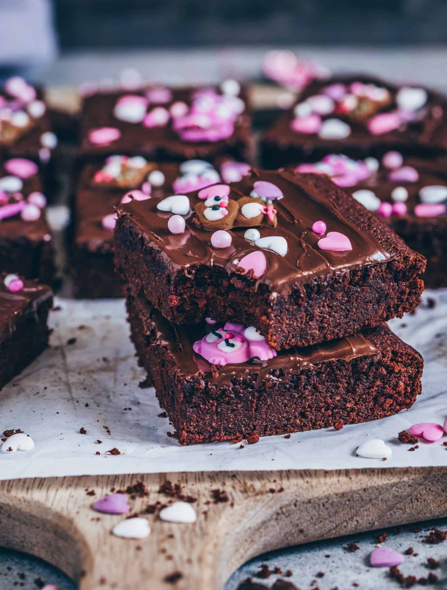 brownies mit schokocreme glasur