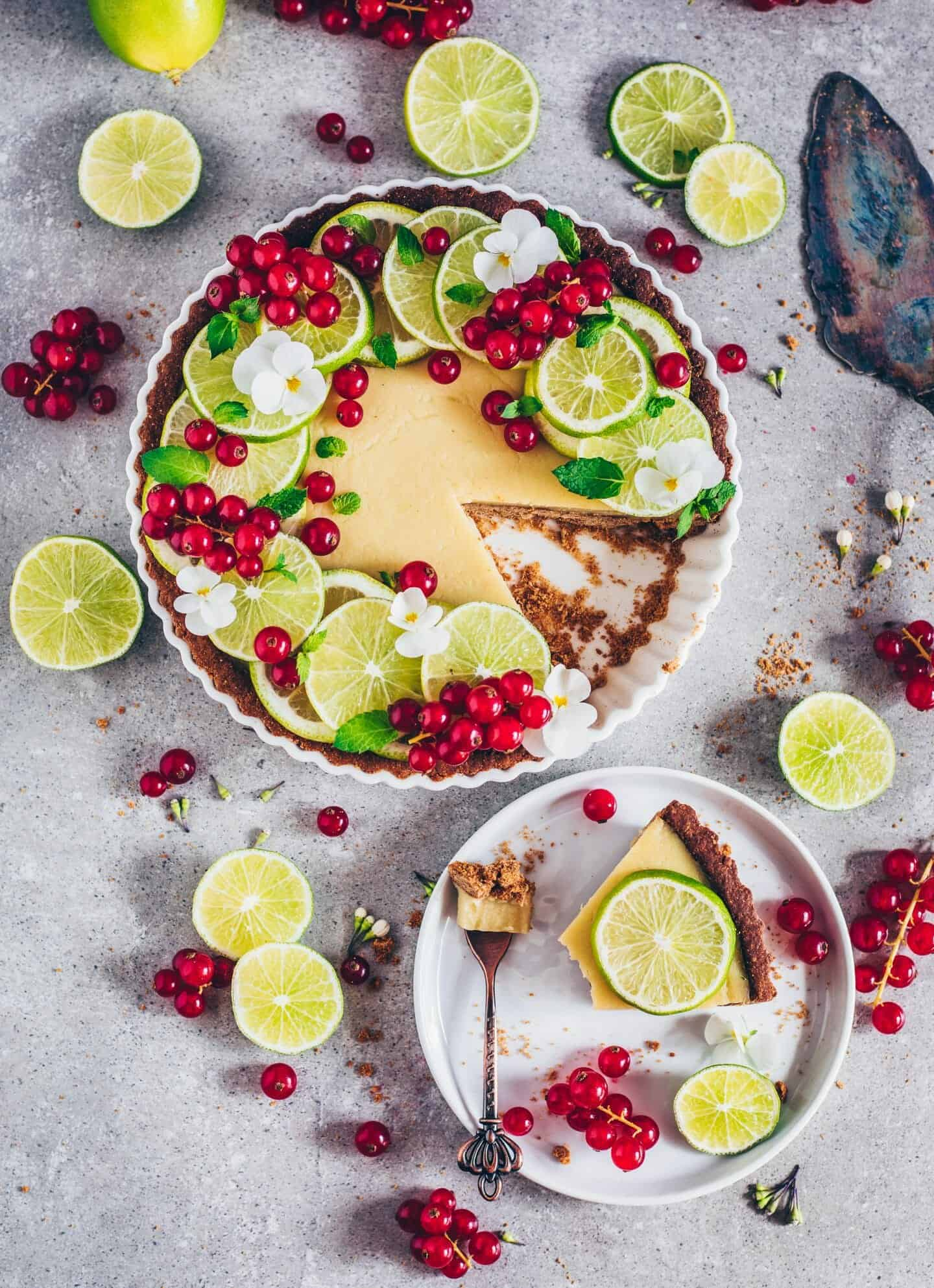 vegan key lime pie (gluten-free tart)