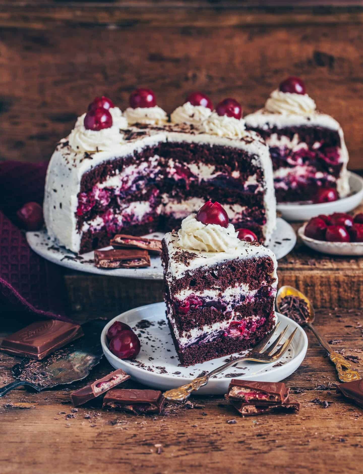 This Vegan Black Forest Cake is incredibly delicious. The recipe is easy, contains plant-based ingredients and can be made sugar-free and gluten-free.
