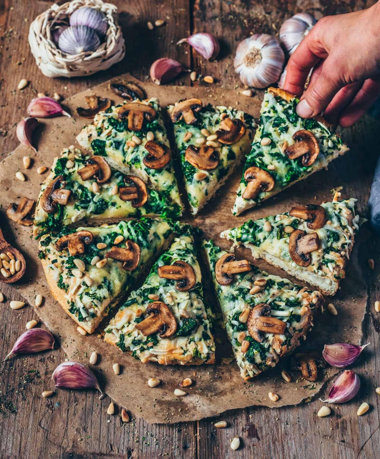 2 pizzen auf ein blech