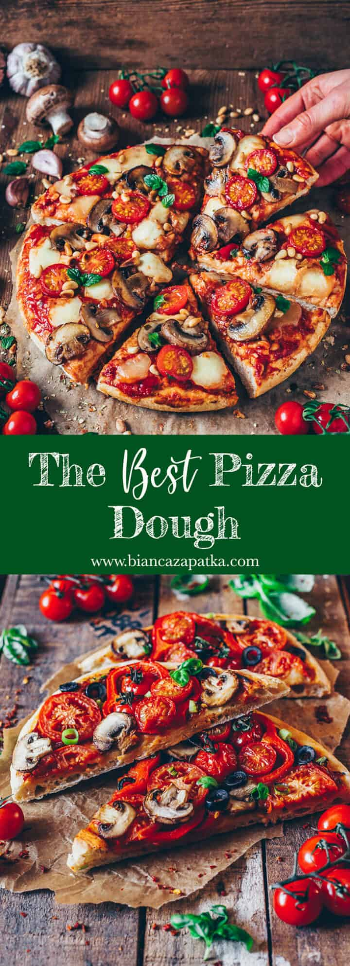 "The perfect recipe for a thick, fluffy and crunchy ""American Pizza""! This homemade pizza dough is also great for freezing."