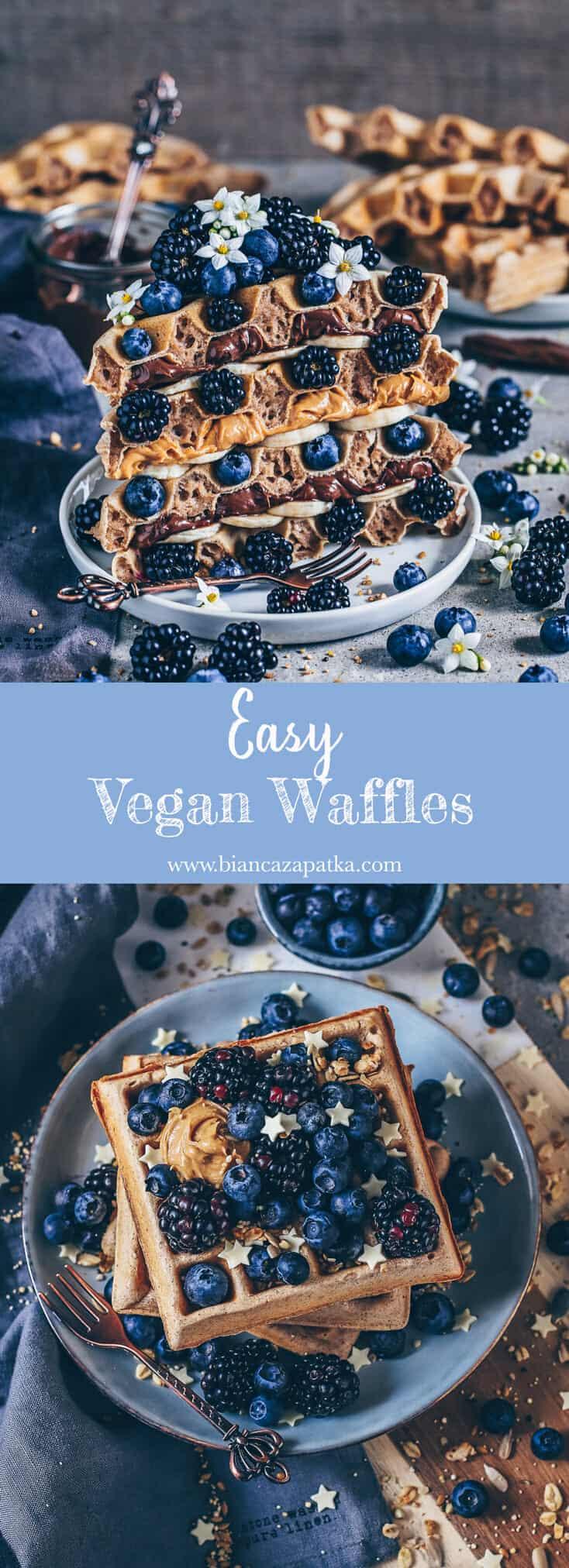 waffles, vegan and easy recipe