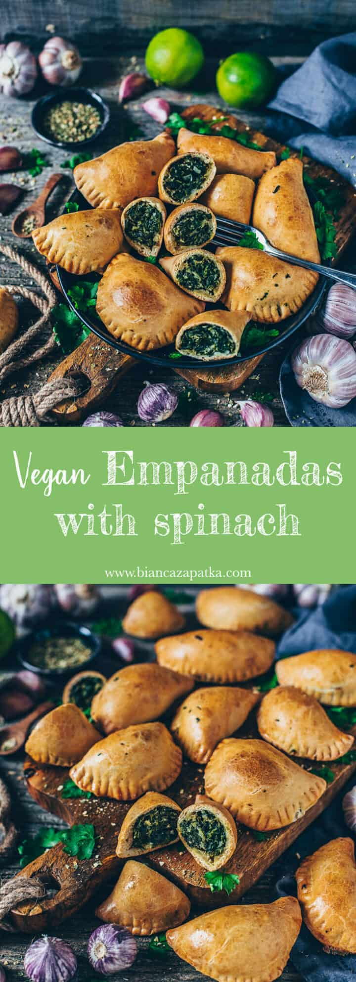These vegan dumplings are the perfect finger food snacks, hot or cold they're delicious. They're filled with garlic spinach but you can add anything you like! They can be prepared with gluten-free corn flour or regular wheat/ spelt  flour.