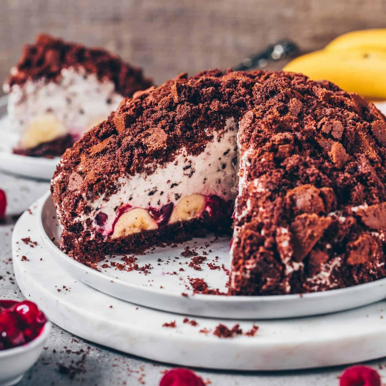 Maulwurfkuchen Mit Banane Und Kirschen Vegan Bianca Zapatka