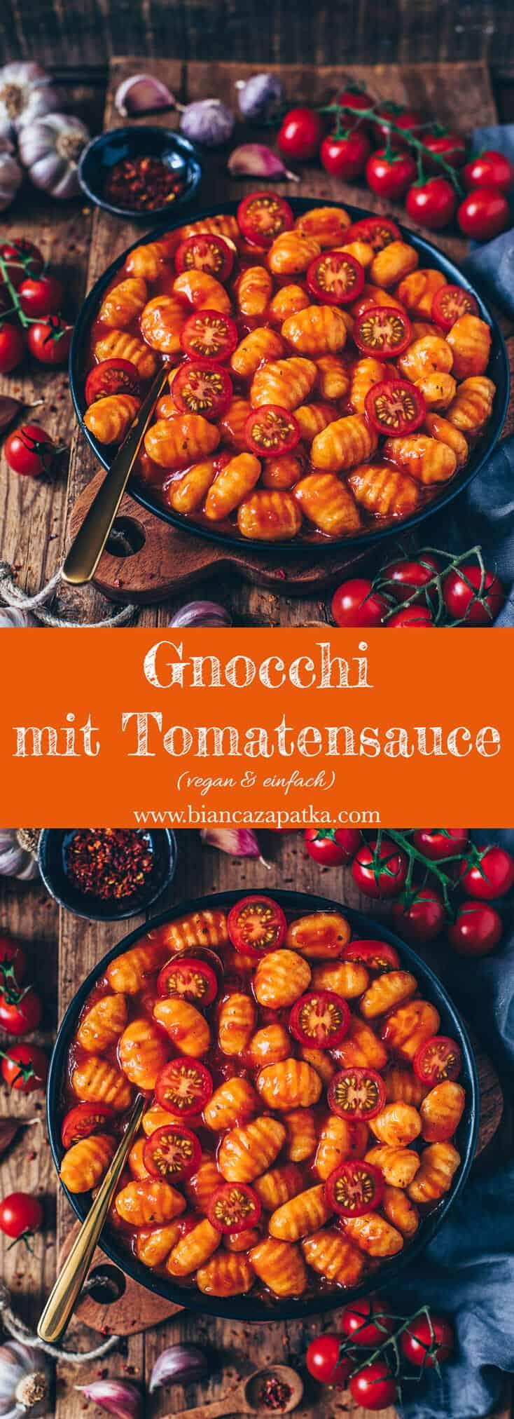 Dieses Rezept für Gnocchi mit Tomatensauce ist unglaublich lecker und eine perfekte Mahlzeit, wenn man schnell zu Mittag oder zu Abend essen möchte. Es ist vegan, glutenfrei, einfach zuzubereiten und in nur 10 Minuten fertig!