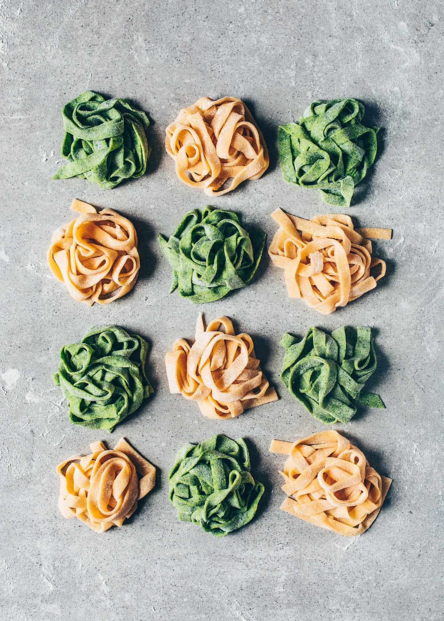 This quick & easy Homemade Vegan Pasta Recipe (Eggless Pasta Dough) can be made without a noodle machine in a few simple steps (pictures below). There's also an option for how to make green Spinach Pasta.