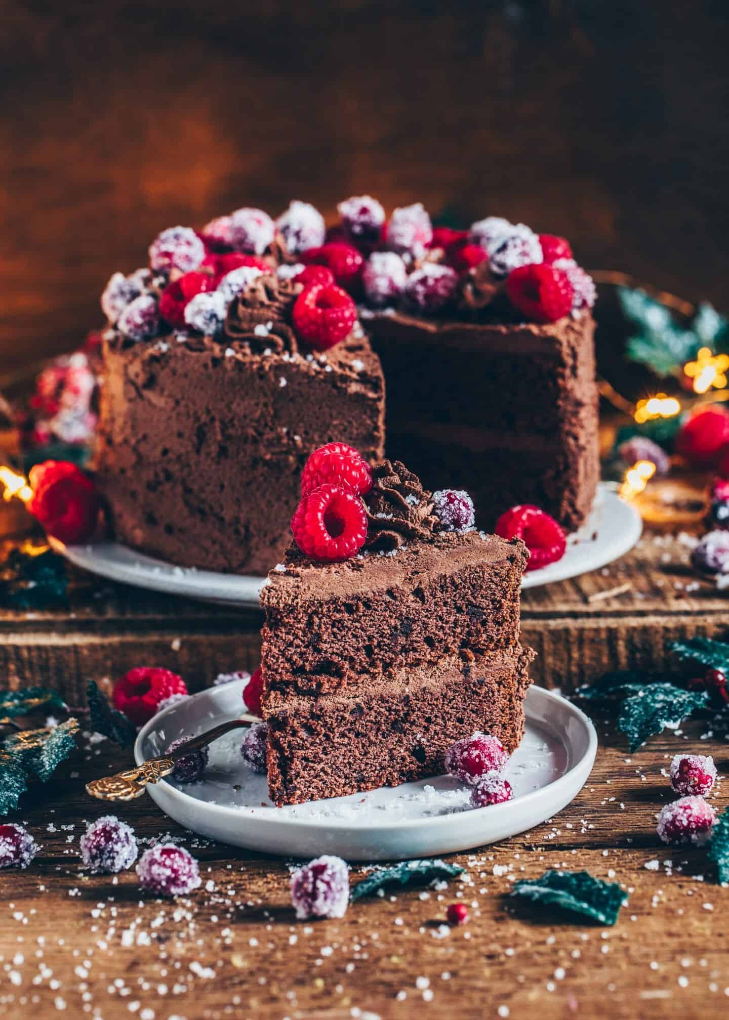The Best Vegan Chocolate Cake made with simple ingredients in one bowl. It's incredibly delicious, rich with chocolate flavor, and can be made gluten-free. The perfect dessert for any occasion!