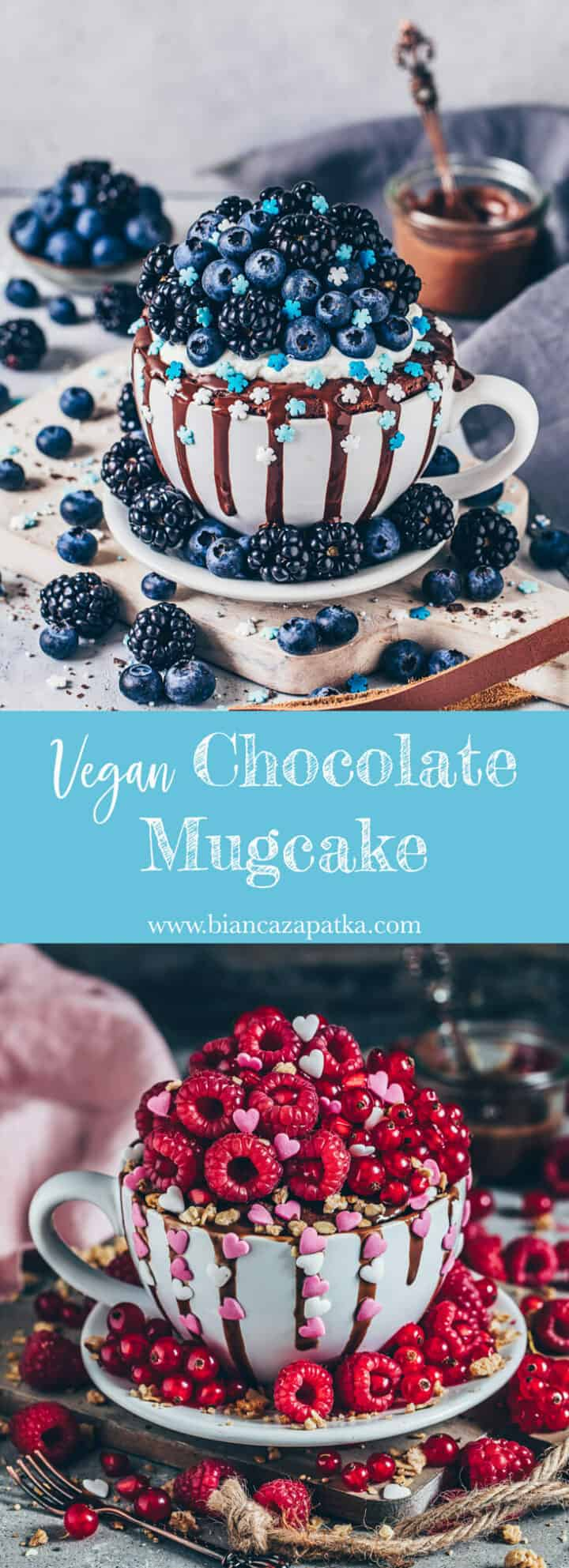 This Vegan Chocolate Mugcake is very easy and quick to make. So delicious and the perfect simple dessert.