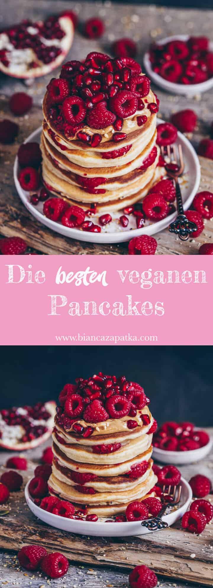 Das beste Rezept für vegane Pancakes ohne Ei! Sie sind fluffig, weich und unglaublich lecker. Außerdem sind sie einfach zuzubereiten mit wenigen Zutaten.