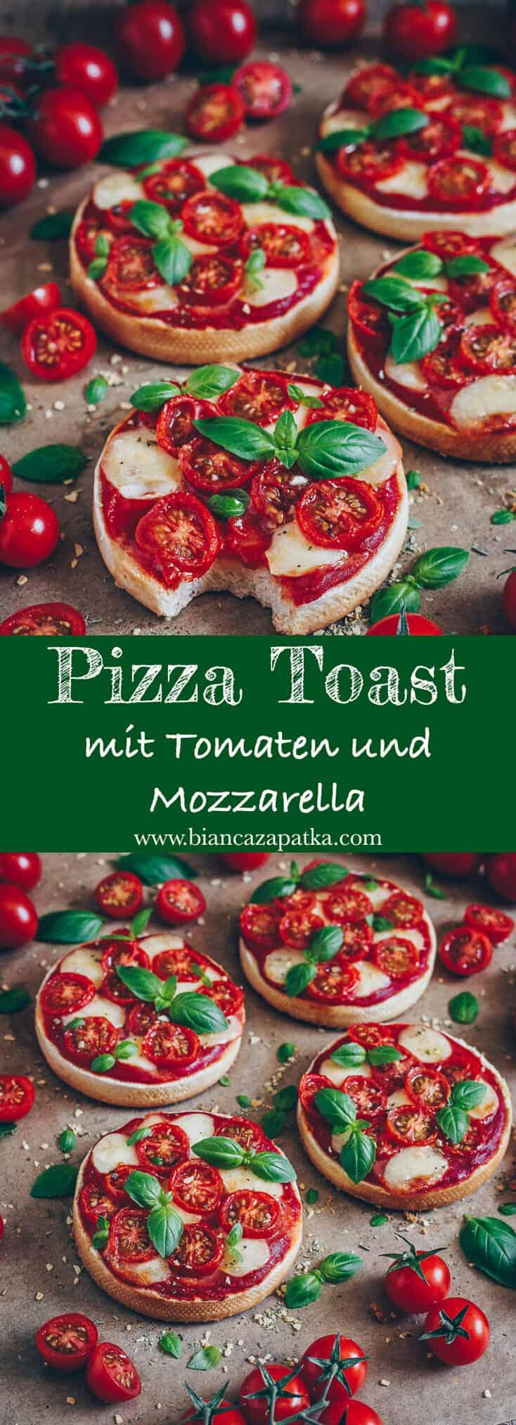 Pizza Toast ist schnell und einfach zubereitet und so lecker. Ein perfektes Rezept, für ein schnelles Abendessen oder einen Snack nach der Schule.