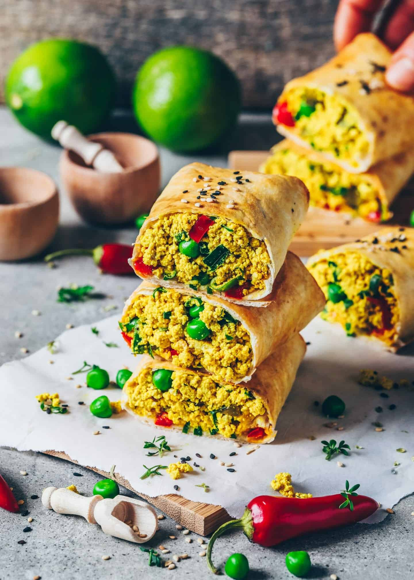 This Vegan Egg Salad is easy to make and the best Recipe ever! It's a delicious protein-rich scrambled tofu filling or spread for Breakfast Burritos, Sandwiches and Toast, making a perfect quick snack, lunch and meal prep idea.