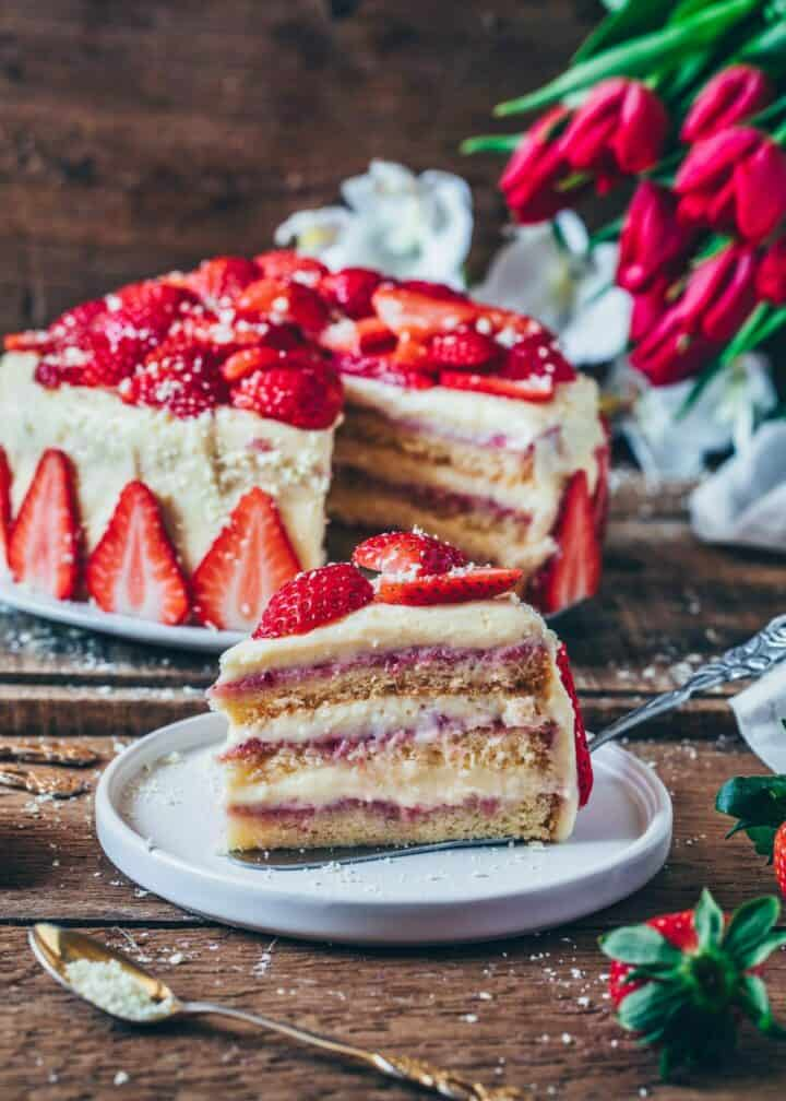 Strawberry Cream Cake Vegan Bianca Zapatka Rezepte