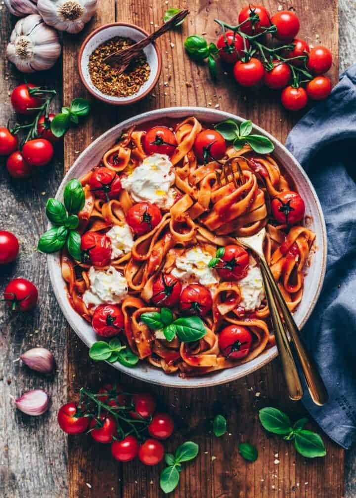 Creamy Tomato Pasta Al Pomodoro Vegan Bianca Zapatka Rezepte