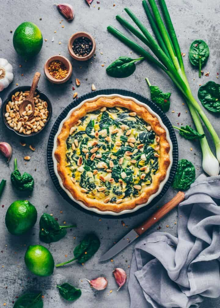 Vegan Spinach Quiche Recipe Easy Bianca Zapatka Rezepte