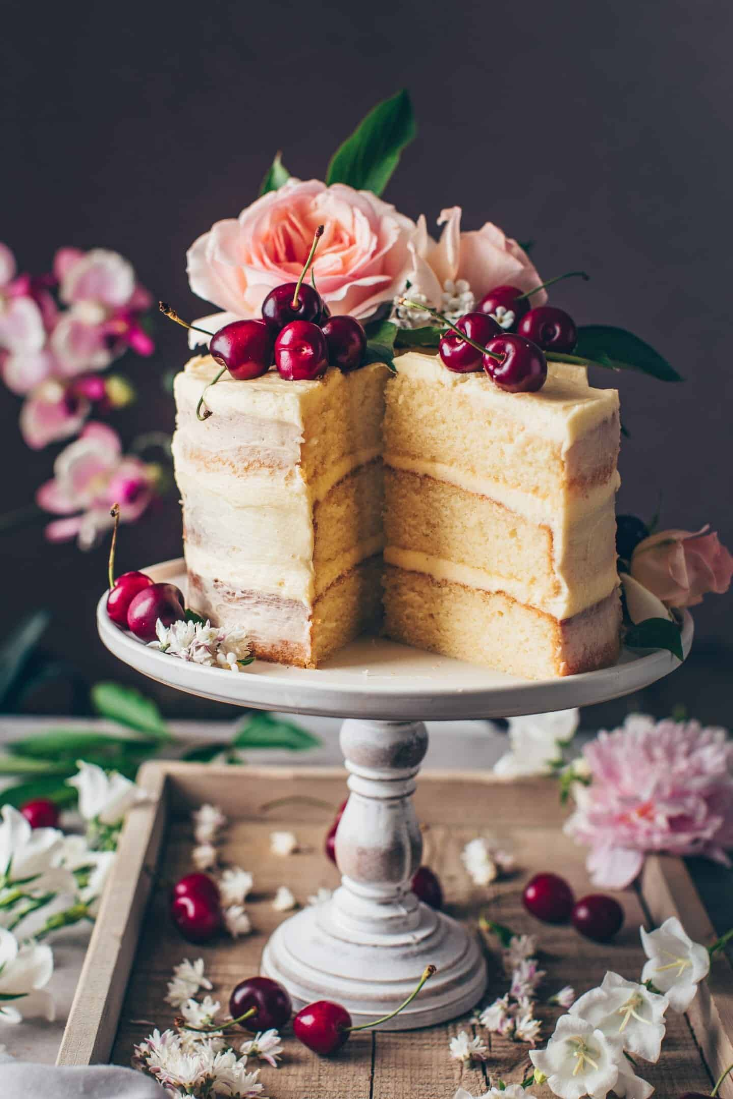 Sensational Vegan Vanilla Cake Recipe Bianca Zapatka Recipes Funny Birthday Cards Online Eattedamsfinfo