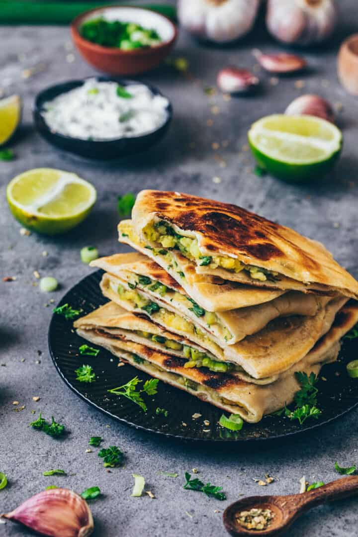 Aloo Paratha | Indian potato stuffed flatbread