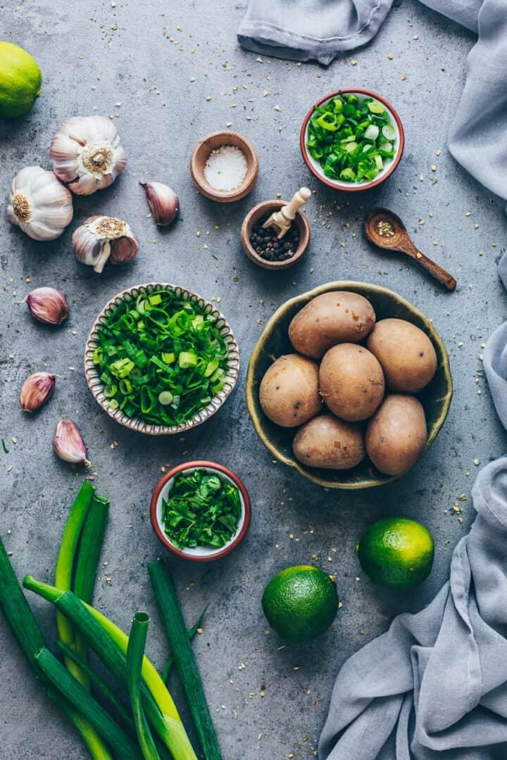 Zutaten für Aloo Paratha | Indisches Fladenbrot mit Kartoffelfuellung