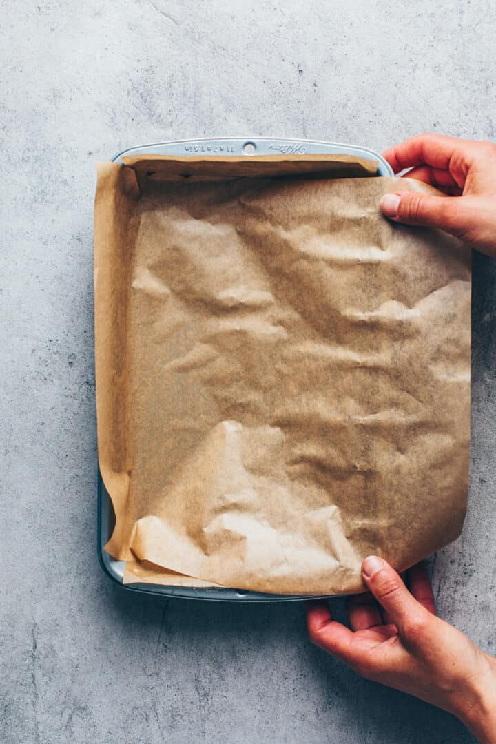 Backform vorbereiten für Blechkuchen