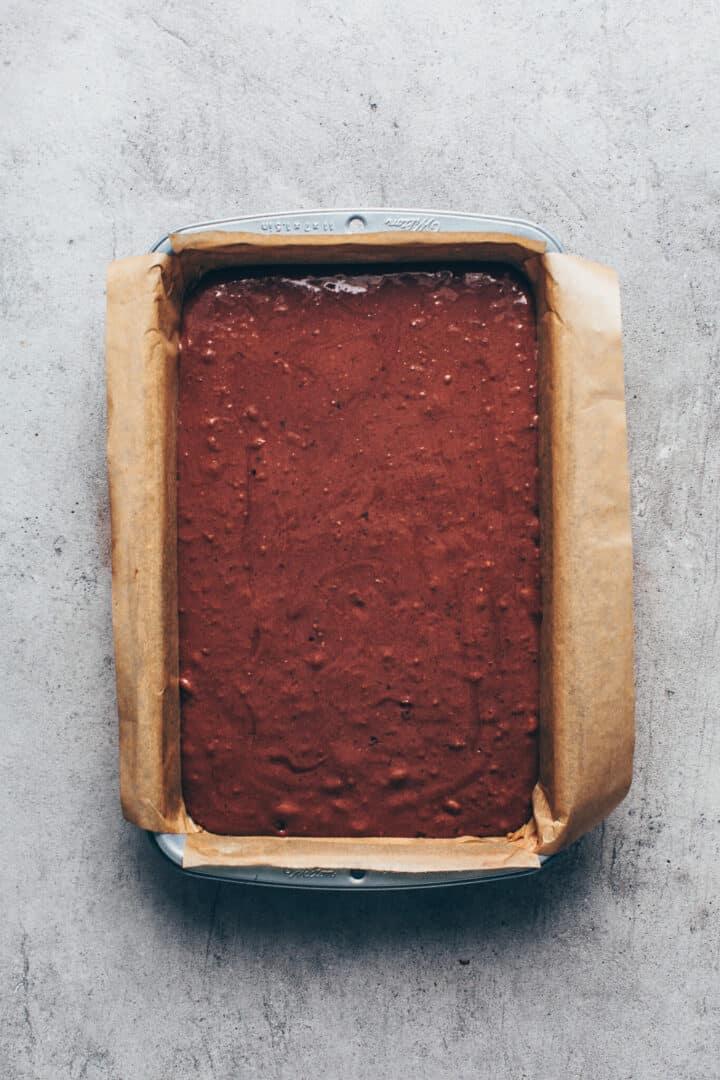 Schokokuchen. Veganer Schokoladenkuchen. Schritt-fuer-Schritt Anleitung.
