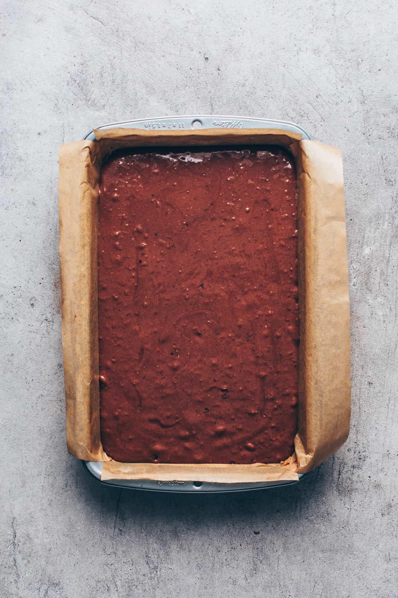 easy chocolate cake. vegan sheet cake brownies