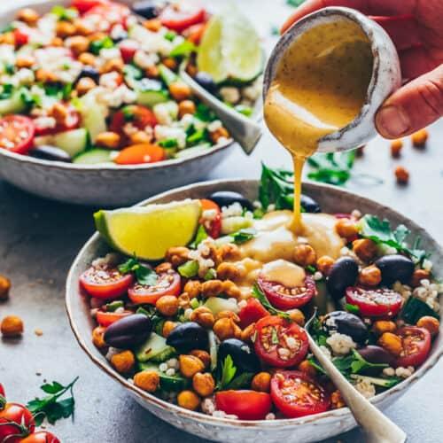Mediterraner Kichererbsen Salat | Einfach, Vegan