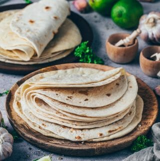 Weizen-Tortillas für Tacos, Wraps, Burritos (Grundrezept)