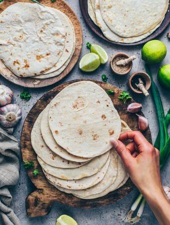 Homemade soft Tortillas from scratch | Easy step-by-step Recipe for soft Tacos, Wraps, Burritos