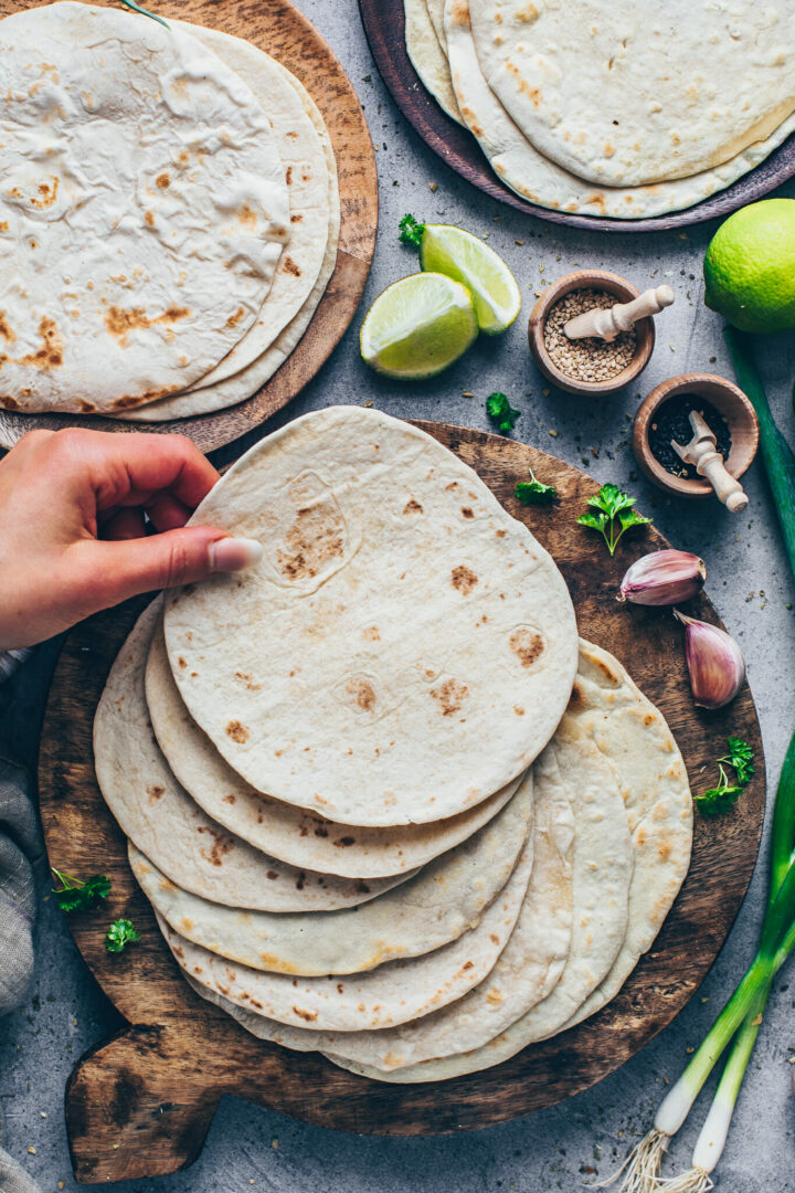 Homemade soft Tortillas from scratch | Easy step-by-step Recipe for soft Tacos, Wraps, Burritos