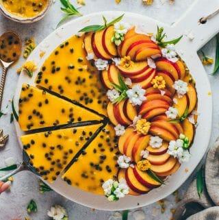 No-Bake Mango Cake Passion Fruit Cheesecake