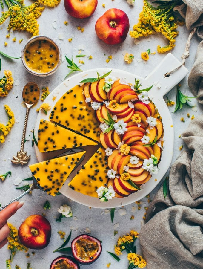Mango Cheesecake Passion Fruit Cake