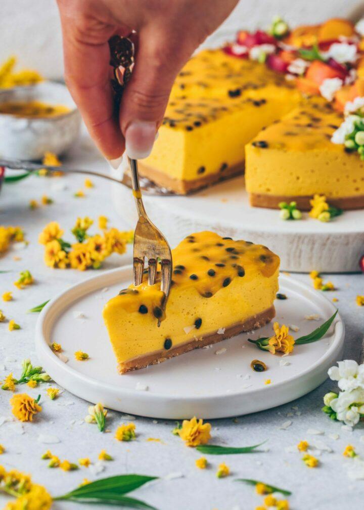 Mango Cheesecake Passion Fruit Cake