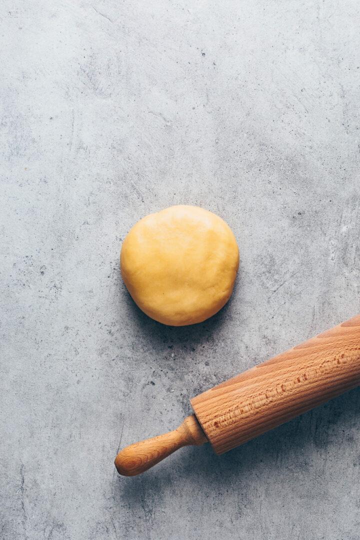 Mürbeteig für Tomaten Tarte (Vegane Quiche)