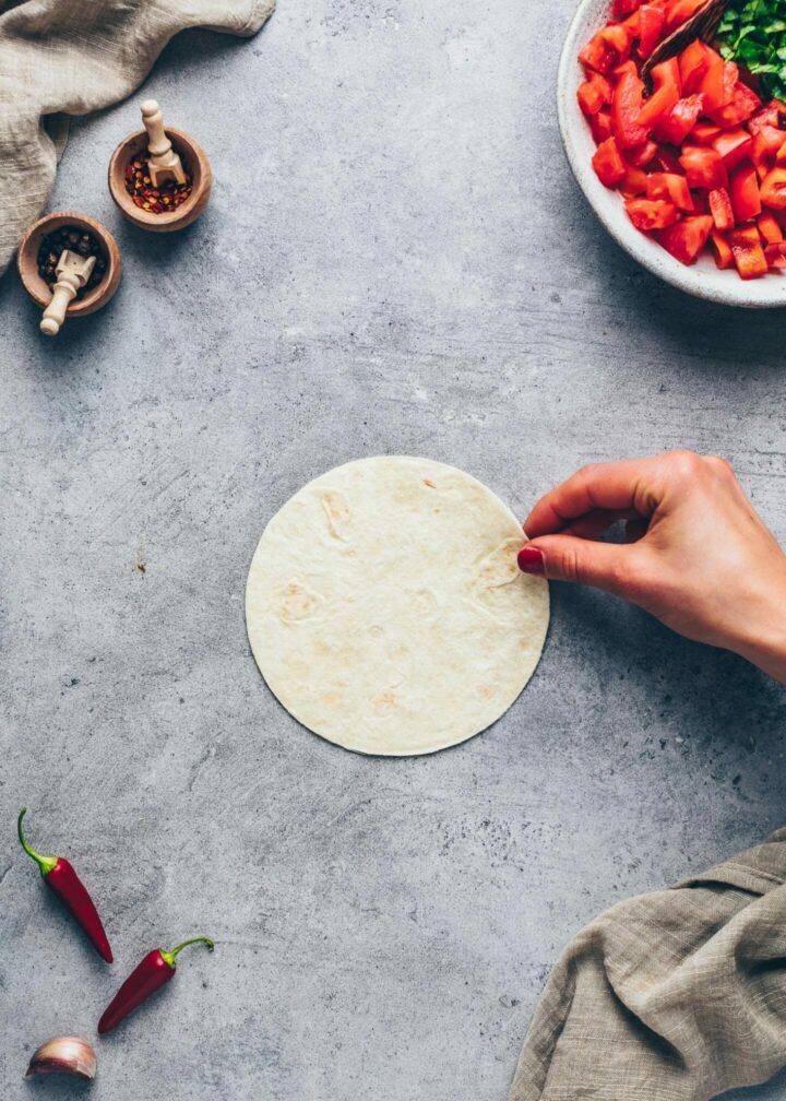 small tortilla for vegan burritos, tacos, wraps