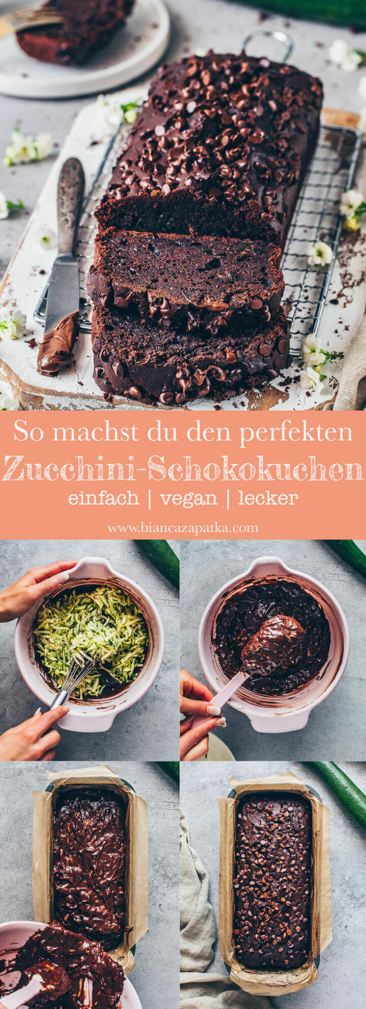 Zucchini Schokoladenkuchen - veganer Schokokuchen