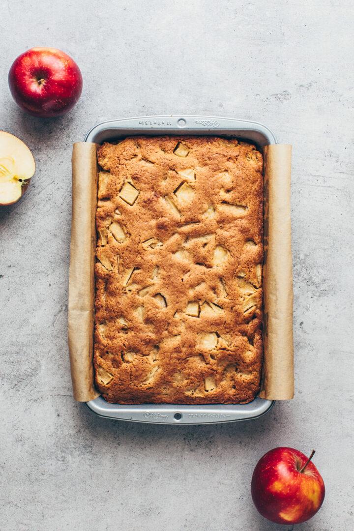 baked apple bars vegan blondies