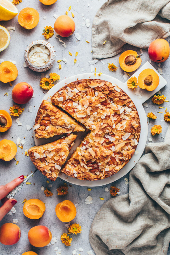 coconut cake with apricots