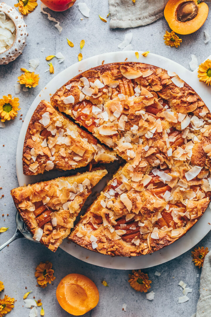 Aprikosenkuchen mit Kokos-Topping