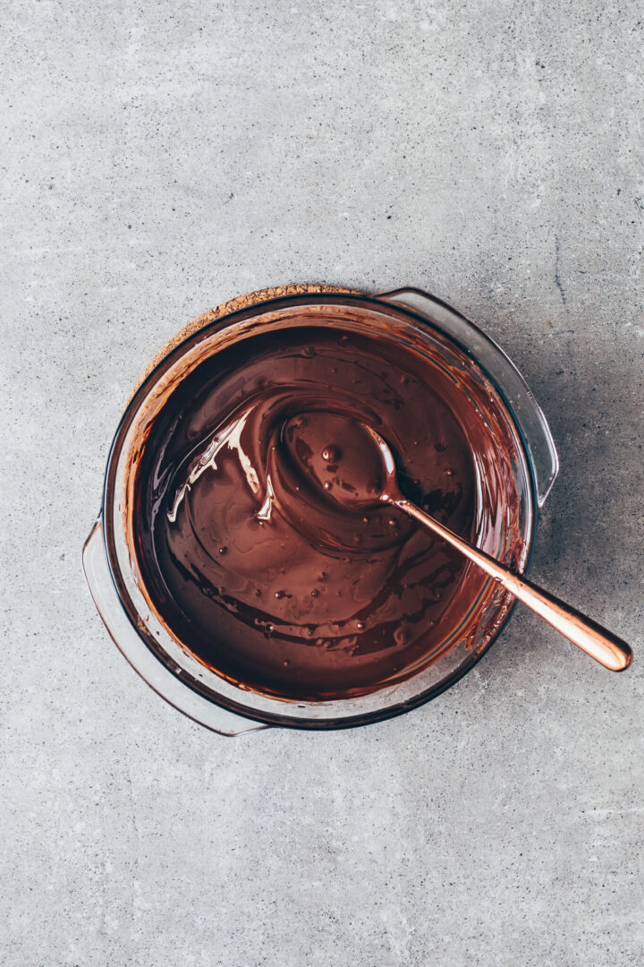 chocolate ganache for vegan pie tart