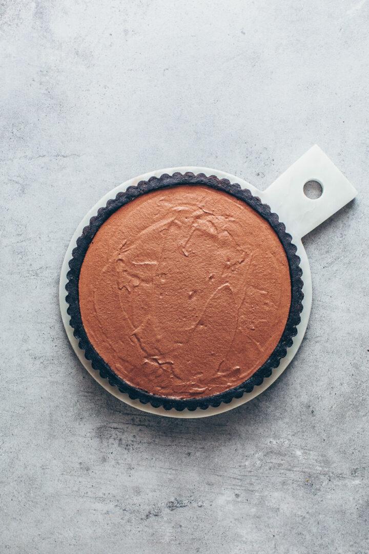 Mousse au Chocolat Schokoladen Mousse mit Keks-Boden